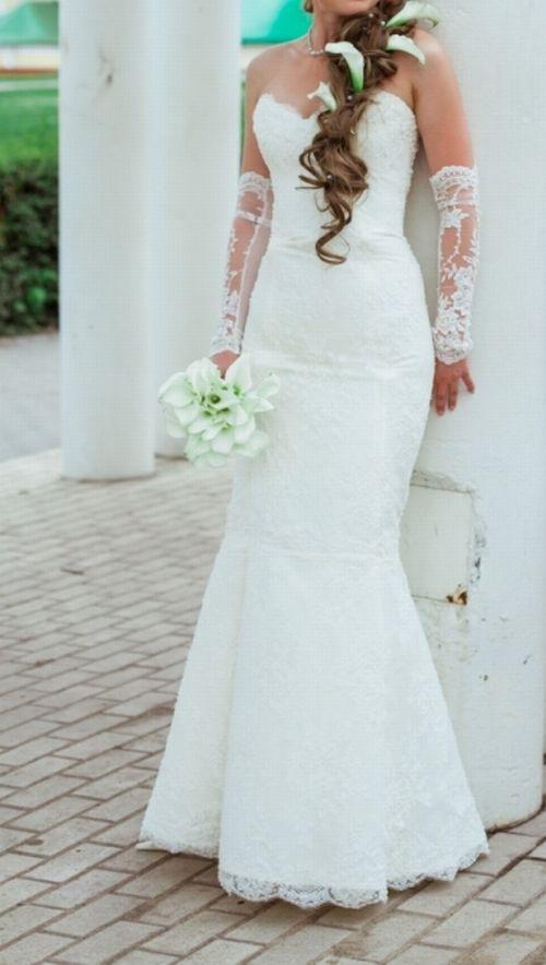 Эксклюзивное свадебное платье + перчатки + туфли. Портал Свадьба