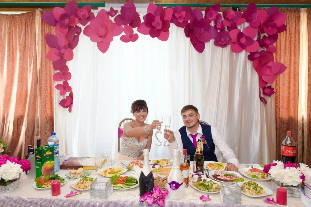 Свадебное украшение зала своими руками фото