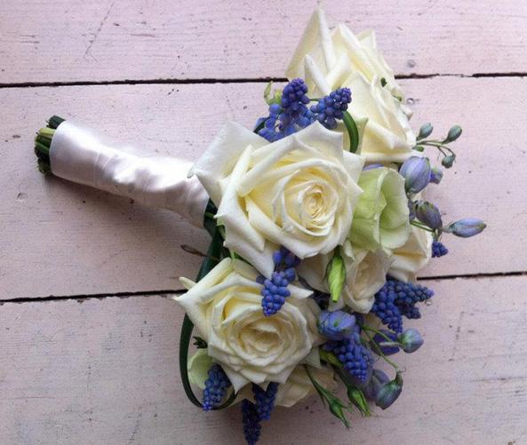 Мускари свадебный букет — pic 10