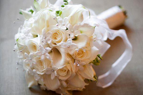 Свадебный букет своими руками из искусственных цветов
