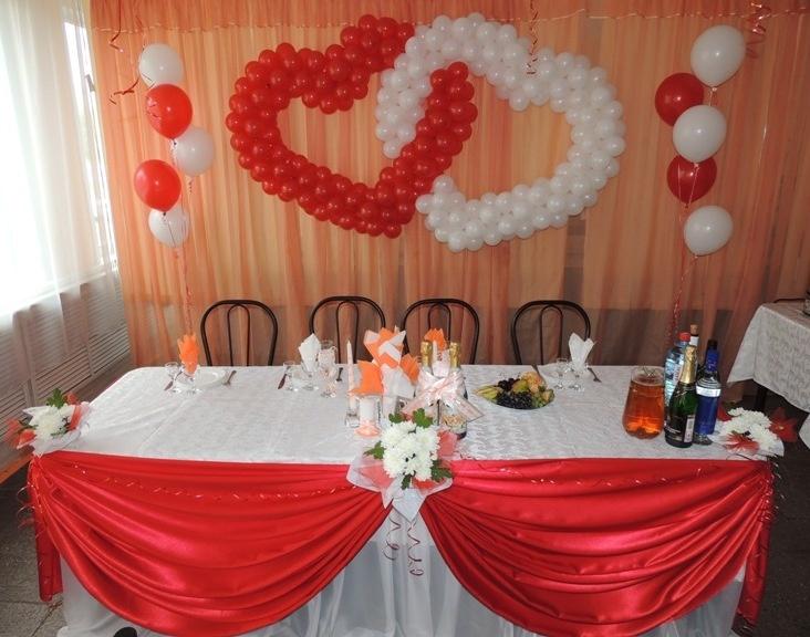 Украшение зала к свадьбе шарами фото