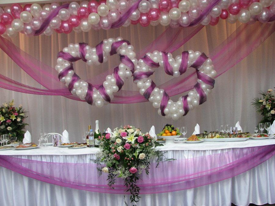 Украшение шарами свадьба