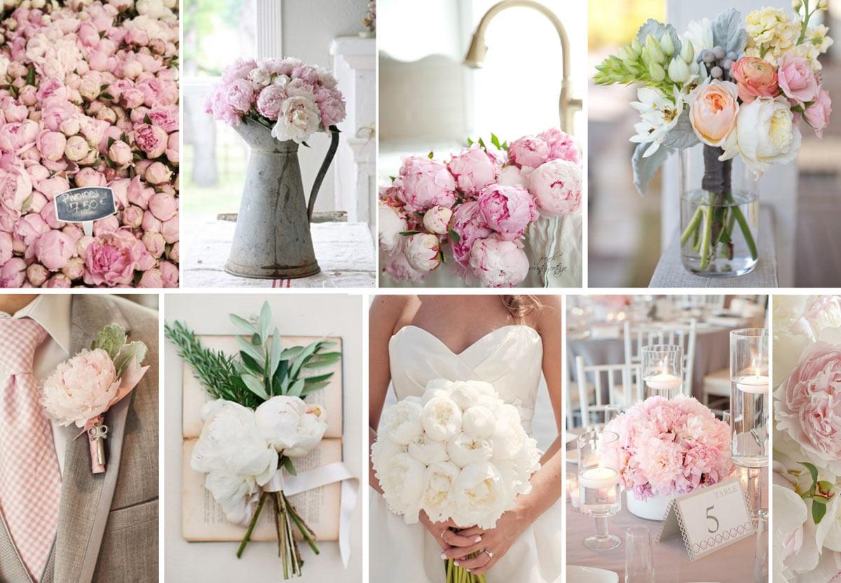 Свадебные платья пионы